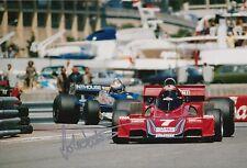 John Watson Firmato a Mano Foto 12x8 McLaren, BRABHAM f1 1.
