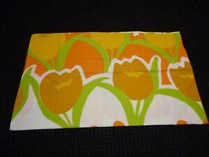 Vtg 70s Steven Utica Flower Power Pillowcase BIG Spring Tulips 50/50 percale