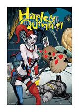 Quadro su pannello in legno MDF Comics Harley Quinn Forever Evil Misura 60x90 CM