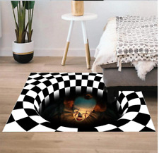 Wohnzimmer Boden Fußmatte Clown Besen Gitter Teppich Halloween Heim Dekor