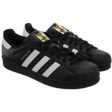 Adidas Superstar schwarz weiß Herren Leder Kult Sneaker Klassiker Neu