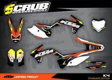 KTM SX Dekor Grafik Set SXf 125 150 250 350 450 2013 2014 2015 '13 -'15 SCRUB MX