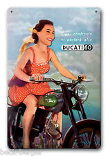 DUCATI 60 Reklame Blechschild Metallschild Schild Metal Sign NEU !!