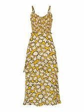 WHISTLES Ladies Nyla Floral Print Silk Dress White Multi Yellow UK14 BNWT RRP299