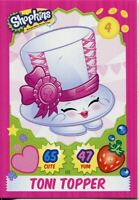 Topps Shopkins Series 1-4 Trading Cards Base Card #115 Toni Topper