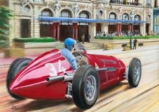 Print on paper Alfa Romeo 158 1950 #34 Juan Manuel Fangio GP MC Nagtegaal