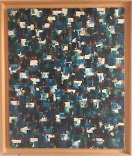 Ingrid AOFLER TEMPLÉ active XXe.Composition abstraite.1973.Huile sur toile.72x60