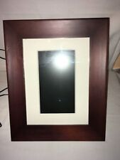 philips wood panel digital photo picture frame spf3407/g7 philips 7 brn