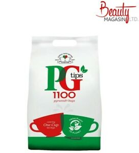 PG TIPS 1100 PYRAMID ONE CUP TEA BAGS BULK BUY CATERING BRITISH EXPAT CUPPA