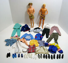 2 Barbie Ken Dolls 1968 Plus Lots of Shoes and Clothes