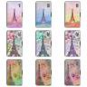 Paris Eiffel Tower French Retro Wallet Phone Case For Galaxy S6 S7 S8 Edge Plus