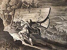 Sanson  portes Gaza Jacob Matham après Hendrick Goltzius 1606 -1652 Israël