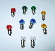 Ersatzlampen Farbig  E5.5 - 19V  -  Farbe nach Wahl  10 Stück   NEU