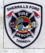 North Carolina - Sherrills Ford - Terrell Fire Rescue NC Fire Dept Patch