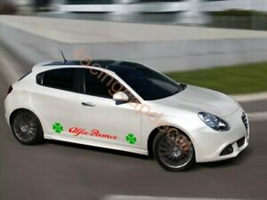 Alfa Romeo clover large side door stripe Decal Sticker 4 leaf verde quadrifoglio