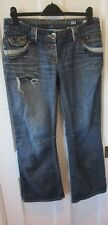RIVER ISLAND JEANS supreme  ( size 12 s  / INSIDE LEG 29 inches ) slouch fit.