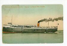 Steamer Saronic—Antique SARNIA Ontario—Northern Navigation Steamship 1914