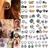 6-28mm Stainless Steel Diamond Plugs Tunnel Piercing Screw Fit Expansion Ear