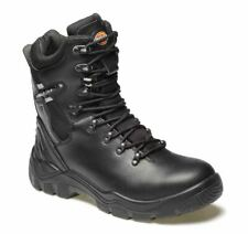 Dickies Mens Quebec Lined Safety Work Boots Size 6 - 12 Black Steel Toe Cap Boot