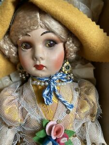 NATI Cloth Doll circa 1938-40's Spain - Lenci Raynal Type BOX NEW