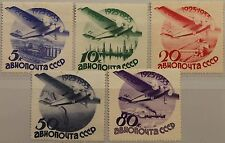 RUSSIA SOWJETUNION 1934 462-66 Z C45-49 unwk OWZ Flugzeuge Airplanes Planes MLH