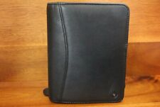 Franklin Covey Pocket Size Black Leather Planner Zipper With Pda Sleeve