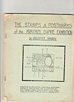 THE STAMPS & POSTMARKS OF THE 1924/25 EMPIRE EXHIBITION. W.G.STITT DIBDEN.