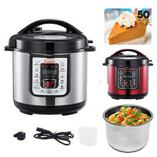 6 Qt. 9-in-1 Stainless Multi-Mode Pot Electric Pressure Rice Cooker Food steamer