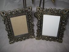 "Pair(2) of 2 x 3"" (5 x 4"") Jewel Embellished Heirloom Photo Picture Frames"