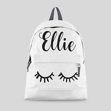 Personalised Kids Backpack - Any Name Eyeashes Girls Back To School Bag #CBPEY
