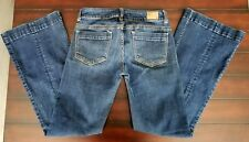 Womens American Eagle Hipster Stretch Blue Jeans Size 2 Short