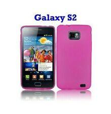 Funda Carcasa Silicona Samsung Galaxy S2 i9100 Rosa Transparente Pink