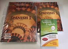 BJU Bob Jones Spanish I Set TE+Student