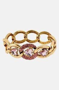 NEW NWT $45 Betsey Johnson Iconic Pinkalicious' Stretch Link Bracelet