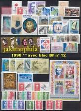 France Année 1990 complète NEUFS ** LUXE avec BF 12