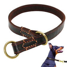 Genuine Leather Dog Slip Collar Adjustable Strong Training Choke Collar Pitbull