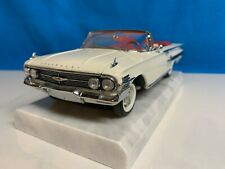 DANBURY MINT 1960 Chevrolet Impala Convertible Ermine White 1:24 Scale, MIB