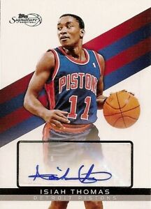 Isiah Thomas 2008-09 Topps Signature Autographs /999 Auto Detroit Pistons RARE