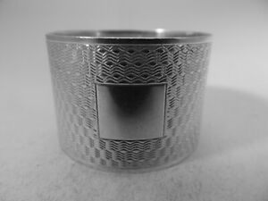 Excellent HM Silver Napkin Ring (606a) - Sheff 1939 Viners - Heavy -Not Engraved