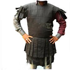 Viking Cotton Gambeson Shirt Sleeveless Gambeson Black Gambeson for Chain Mail