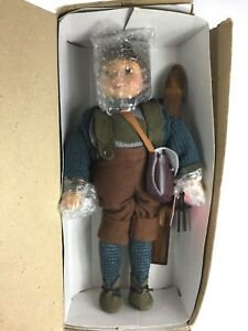 "Derek Show Stoppers Collectors Porcelain Boy Doll 13"" Ski Skier Hand Painted"