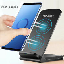 10W Wireless QI Fast Charger Charging Dock Stand Holder For iPhone 8 X Xs Galaxy