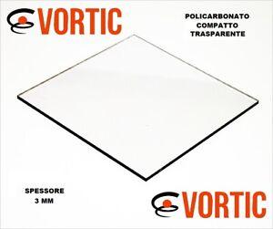 SP 3 mm POLICARBONATO COMPATTO, UV Protetto CRISTALLO / TRASPARENTE