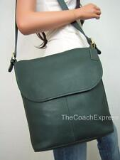 COACH NEW Vintage Green Leather Whitney Flap Duffle Bag