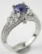 Engagement Ring S925 Sterling Silver Art Deco Vintage 1.9ct Cubic Zirconia