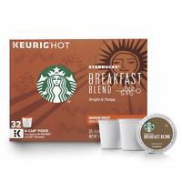 Starbucks BREAKFAST BLEND Roast Medium Roast K Cups 32 Count EXP:1/2020
