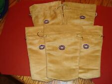 """Lot of 5 Crown Royal Reserve Bags 750 ML brown suede like 10"""" x 7"""" quilts"""