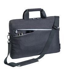 Notebooktasche 15,6 Zoll Laptoptasche mit Zubehörfächer, Schultergurt, schwarz