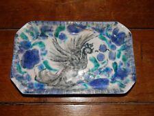 PLAT Vide Poche en Céramique Décor Animalier Signé EDOUARD CAZAUX 1889 - 1974