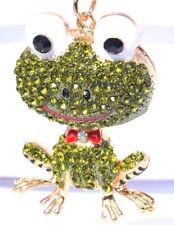 CUTE FROG Handbag Charm Keyring Diamante Rhinestone Charm Bling Authentic NEW